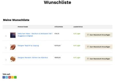 Paulcari Wunschliste